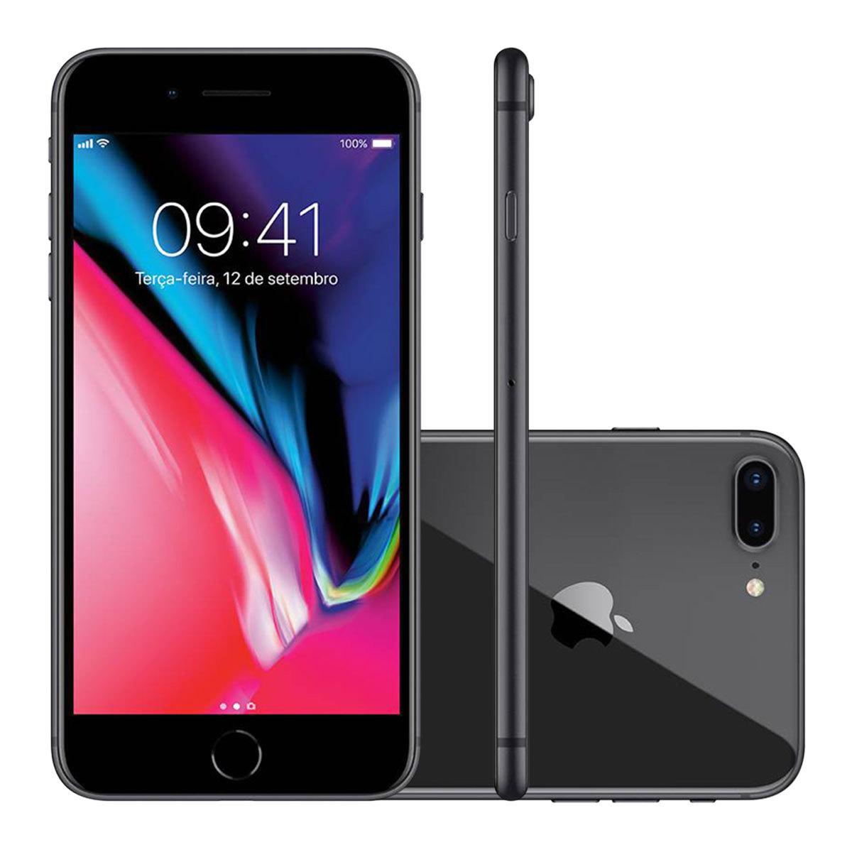 Iphone 8 Plus 256gb Cinza Espacial 4g Tela 5,5 12mp Ios 11