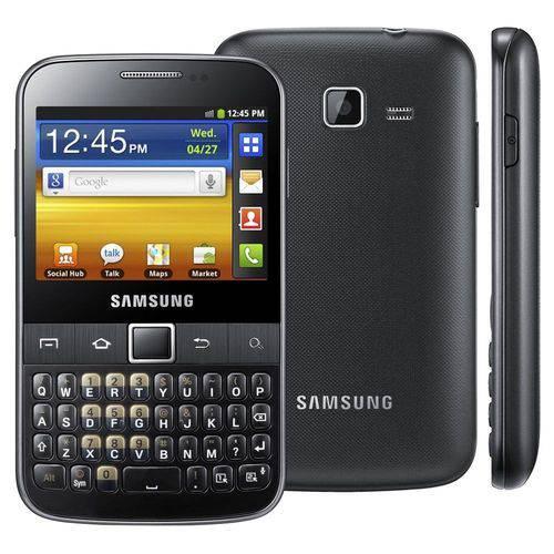 Samsung Galaxy Y Pro B5510 - Android 2.3, Wi-fi, Preto Preto Preto
