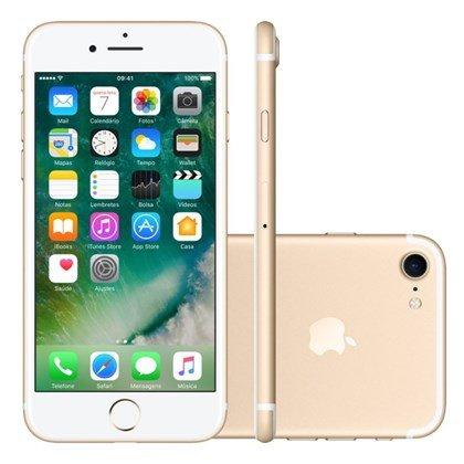 Iphone 7 128gb Dourado Tela 4.7 Ios 10 4g Câmera 12mp - Apple
