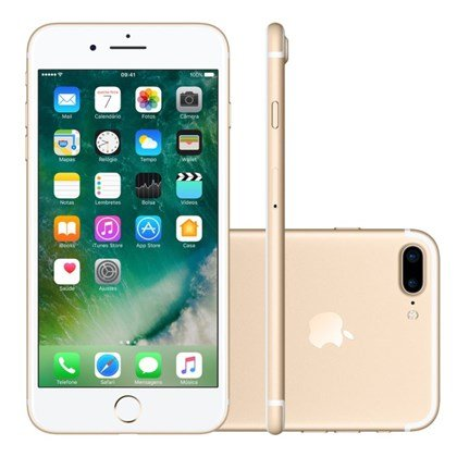 Iphone 7 Plus 32gb Dourado Tela 5.5 Ios 10 4g Câmera 12mp - Apple
