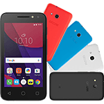 Smartphone Alcatel Pixi4 Colors Dual Chip Android 6.0 Tela 4 Memória 8gb 3g Câmera 8mp Selfie 5mp Flash Frontal Quad Core - Preto