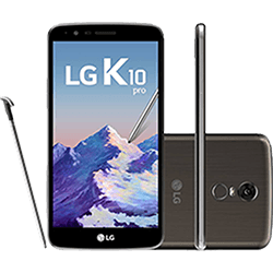 Smartphone Lg K10 Pro Dual Chip Android 7.0 Nougat Tela 5.7\ Octacore 32gb 4g Wi-fi Câmera 13mp - Titânio