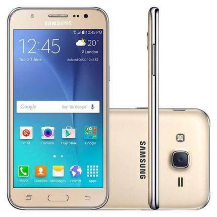 Smartphone Samsung Galaxy J5 Duos Dourado 5 4g 13mp Quadcore 16gb Com Flash Frontal