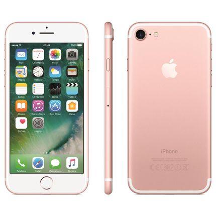 Iphone 7 Apple 128gb, Tela Retina Hd de 4,7, 3d Touch, Ios 10, Touch Id, Câm.12mp, Resistente à Água e Sistema de Alto-falantes Estéreo - Ouro Rosa