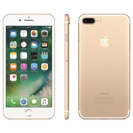 Iphone 7 Apple Plus Com 128gb, Tela Retina Hd de 5,5, Ios 10, Dupla Câmera Traseira, Resistente à Água, Wi-fi, 4g Lte e Nfc - Dourado