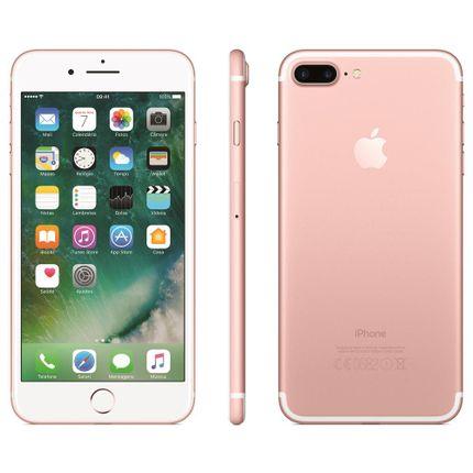 Iphone 7 Apple Plus Com 128gb, Tela Retina Hd de 5,5, Ios 10, Dupla Câmera Traseira, Resistente à Água, Wi-fi, 4g Lte e Nfc - Ouro Rosa