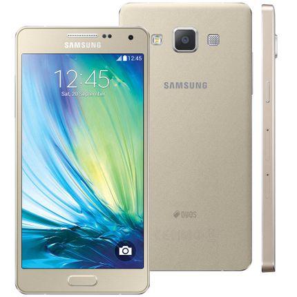 Smartphone Samsung Galaxy A5 4g Duos A500m/ds Dourado Com Dual Chip, Tela 5, Android 4.4, Câm.13mp e Processador Quad Core 1.2ghz - Tim