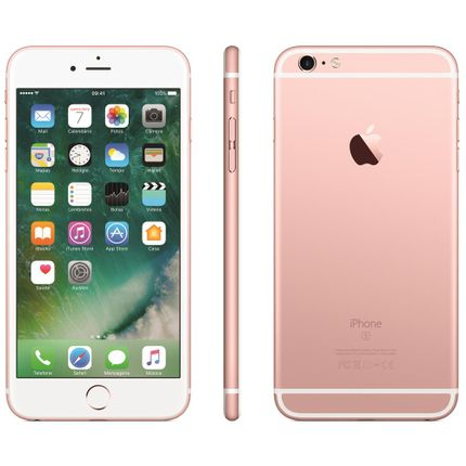 Iphone 6s Plus Apple Com 32gb, Tela 5,5 Hd, 3d Touch, Ios 9, Sensor Touch Id, Câmera Isight 12mp, Wi-fi, 4g, Gps, Bluetooth e Nfc - Ouro Rosa