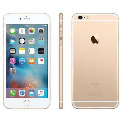 Iphone 6s Plus Apple Com, Tela 5,5 Hd, 3d Touch, Ios 9, Sensor Touch Id, Camera Isight 12mp, Wi-fi, 4g, Gps, Bluetooth e Nfc - Dourado