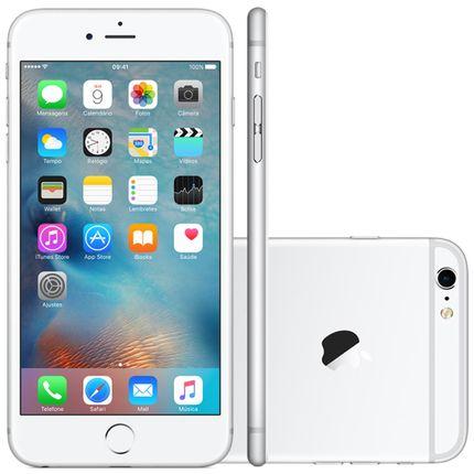 Iphone 6s Plus Apple 16gb Prata 4g Ios 9 3d Touch Chip A9 e Câmera de 12mp