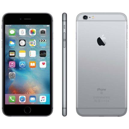 Iphone 6s Plus Apple 16gb Cinza Espacial 4g Ios 9 3d Touch Chip A9 e Câmera de 12mp