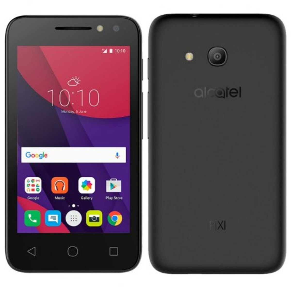 Smartphone Alcatel Pixi4 4034e Light Preto, Dual Chip, Tela 4, Android 6.0, Câm. 8mp
