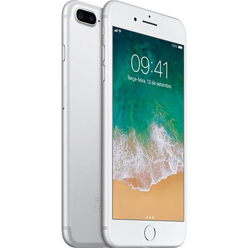 Iphone 7 Plus 32gb Prata Tela Retina Hd 5,5\ 3d Touch Câmera Dupla de 12mp - Apple