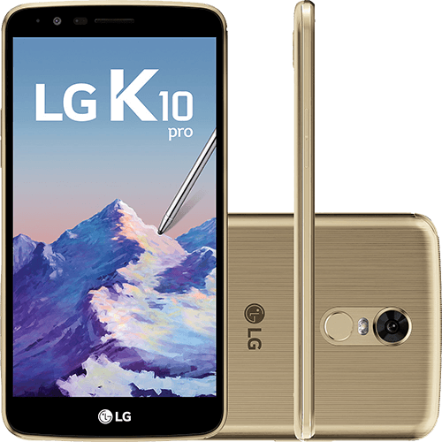 Smartphone Lg K10 Pro Dual Chip Android 7.0 Tela 5.7\ Octacore 1.5 Ghz 32gb 4g Câmera 13mp - Dourado