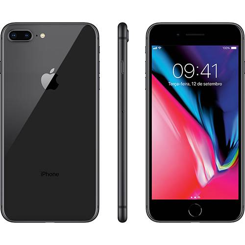 Iphone 8 Plus Cinza Espacial 256gb Tela 5.5\ Ios 11 4g Wi-fi Câmera 12mp - Apple