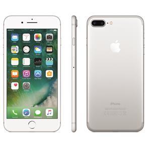 Iphone 7 Apple Plus Com 128gb, Tela Retina Hd de 5,5, Ios 11, Dupla Câmera Traseira, Resistente à Água, Wi-fi, 4g Lte e Nfc - Prateado