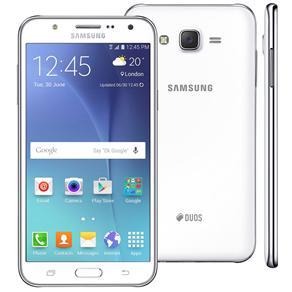 Smartphone Samsung Galaxy J7 Duos Branco Com Dual Chip, Tela 5.5\, 4g, Câmera 13mp, Android 5.1 e Processador Octa Core de 1.5 Ghz