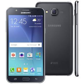 Smartphone Samsung Galaxy J7 Duos Preto Com Dual Chip, Tela 5.5\, 4g, Câmera 13mp, Android 5.1 e Processador Octa Core de 1.5 Ghz