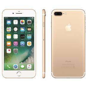 Iphone 7 Apple Plus Com 128gb, Tela Retina Hd de 5,5, Ios 11, Dupla Câmera Traseira, Resistente à Água, Wi-fi, 4g Lte e Nfc - Dourado