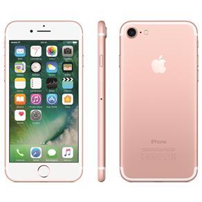 Iphone 7 Apple Com 128gb, Tela Retina Hd de 4,7 Com 3d Touch, Ios 10, Sensor Touch Id, Câmera 12mp, Resistente à Água, Wifi, 4g Lte e Nfc - Ouro Rosa