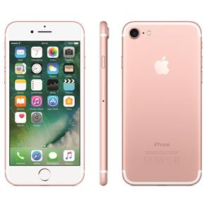 Iphone 7 Apple 128gb, Tela Retina Hd de 4,7, 3d Touch, Ios 11, Touch Id, Câm.12mp, Resistente à Água e Sistema de Alto-falantes Estéreo - Ouro Rosa