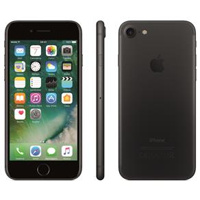 Iphone 7 Apple 128gb, Tela Retina Hd de 4,7, 3d Touch, Ios 11, Touch Id, Câm.12mp, Resistente à Água e Sistema de Alto-falantes Estéreo - Preto Matte