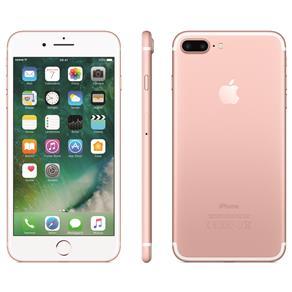 Iphone 7 Apple Plus Com 256gb, Tela Retina Hd de 5,5, Ios 10, Dupla Câmera Traseira, Resistente à Água, Wi-fi, 4g Lte e Nfc - Ouro Rosa