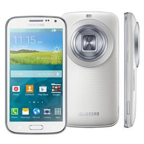 Celular Desbloqueado Samsung Galaxy K Zoom Branco Com Tela 4.8', Câmera 20.7mp, Android 4.4, Processador Hexa-core, 3g/4g e Wi-fi