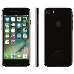 Iphone 7 Apple 128gb, Tela Retina Hd de 4,7, 3d Touch, Ios 11, Touch Id, Câm.12mp, Resistente à Água e Sistema de Alto-falantes - Preto Brilhante