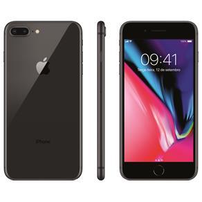 Iphone 8 Apple Plus Com 256gb, Tela Retina Hd de 5,5, Ios 11, Dupla Câmera Traseira, Resistente à Água, Wi-fi, 4g Lte e Nfc - Cinza-espacial