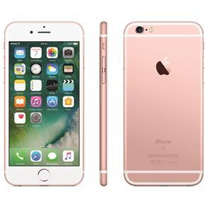 Iphone 6s Apple Com 64gb e Tela 4,7 Hd Com 3d Touch, Ios 9, Sensor Touch Id, Câmera Isight 12mp, Wi-fi, 4g, Gps, Bluetooth e Nfc - Ouro Rosa