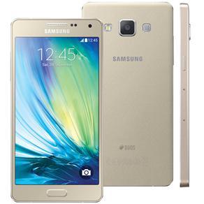 Smartphone Samsung Galaxy A5 4g Duos A500m/ds Dourado Com Dual Chip, Tela 5\, Android 4.4, Câm.13mp e Processador Quad Core 1.2ghz