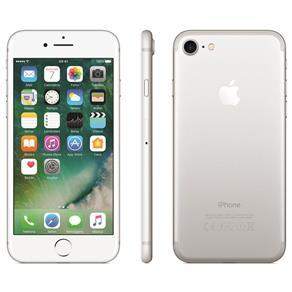 Iphone 7 Apple 128gb, Tela Retina Hd de 4,7, 3d Touch, Ios 11, Touch Id, Câm.12mp, Resistente à Água e Sistema de Alto-falantes Estéreo - Prateado