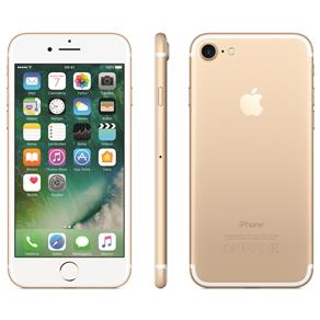 Iphone 7 Apple 128gb, Tela Retina Hd de 4,7, 3d Touch, Ios 11, Touch Id, Câm.12mp, Resistente à Água e Sistema de Alto-falantes Estéreo - Dourado