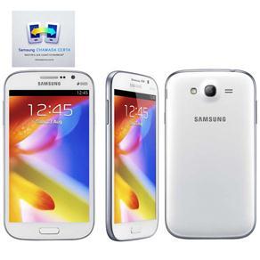 Smartphone Samsung Galaxy Gran Duos Gti9082 Branco Com Dual Chip, Tela de 5\, Android 4.1, Processador Dual Core, 3g e Câmera de 8mp Celular Samsung Galaxy Gran Duos