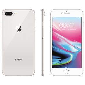 Iphone 8 Apple Plus Com 256gb, Tela Retina Hd de 5,5, Ios 11, Dupla Câmera Traseira, Resistente à Água, Wi-fi, 4g Lte e Nfc - Prateado
