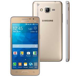 Smartphone Samsung Galaxy Gran Prime Duos Tv Dourado Com Tv Digital, Dual Chip, Tela de 5\, Câm. 8mp, Android 4.4 e Processador Quad Core de 1.2ghz