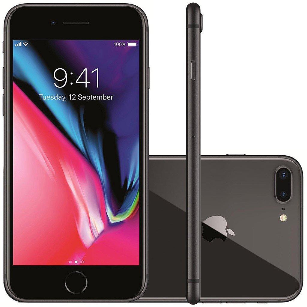 Smartphone Apple Iphone 8 Plus 256gb Desbloqueado Cinza Espacial