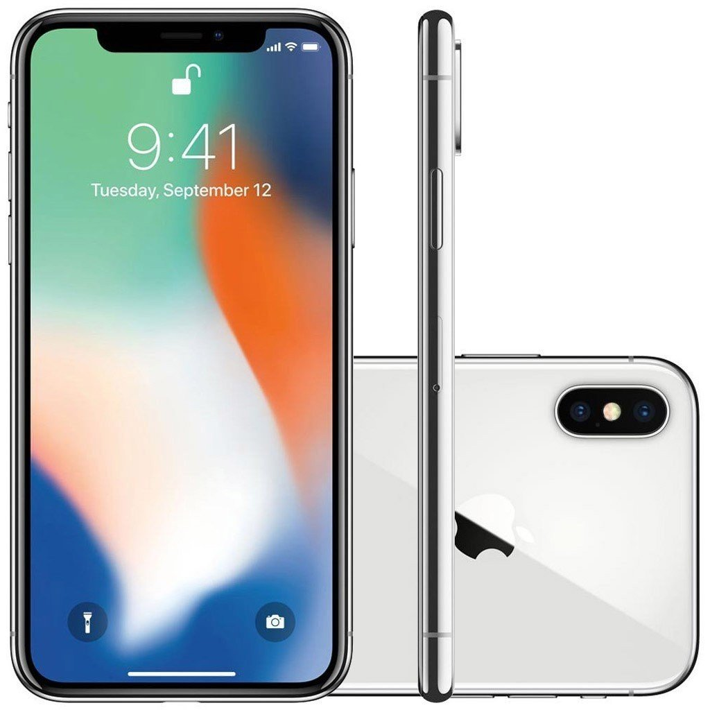 Smartphone Apple Iphone X 256gb Desbloqueado Prateado