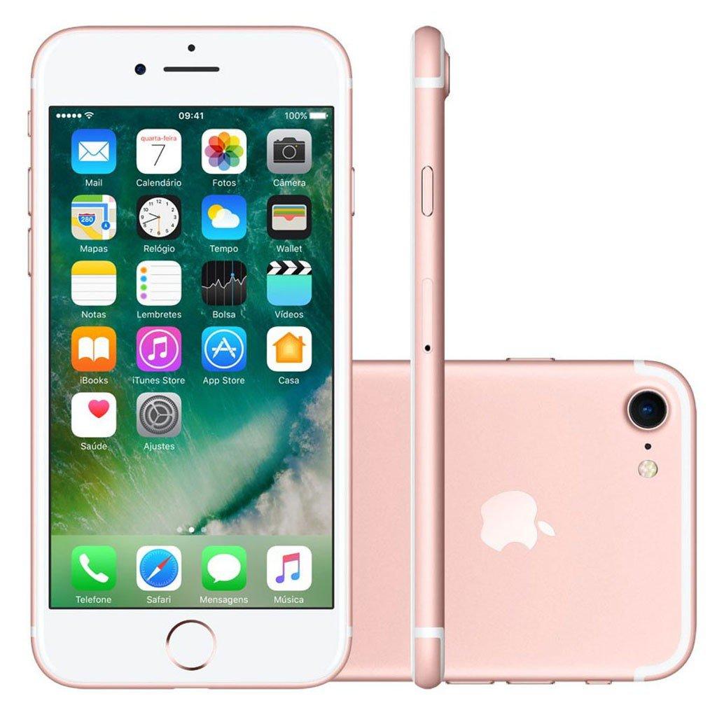 Smartphone Apple Iphone 7 128gb Desbloqueado Ouro Rosa