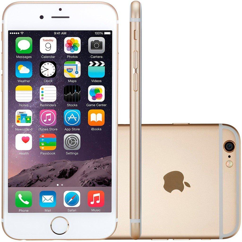 Smartphone Apple Iphone 6 64gb Desbloqueado Dourado