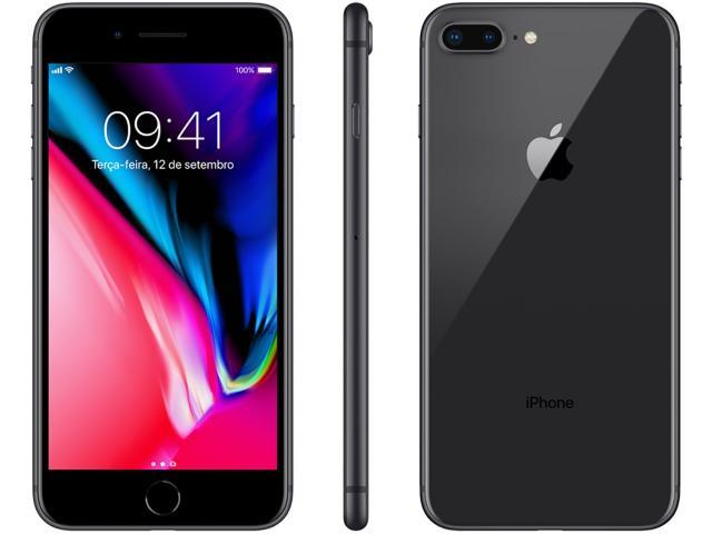 Iphone 8 Plus Apple 256gb Cinza Espacial 4g - Tela 5,5 Retina Câmera 12mp Ios 11 Proc. Chip A11