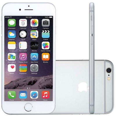 Iphone 6 Apple, 4g Ios 8 16gb Câmera 8mp Tela Retina Hd Multi-touch 4.7, Prata