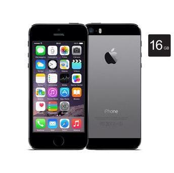 Iphone 5s, 16gb, Cinza Espacial Tela de 4' Chip A7 Touch Id Wireless 4g Lte Câmera Traseira Isight de 8mp e Ios 8