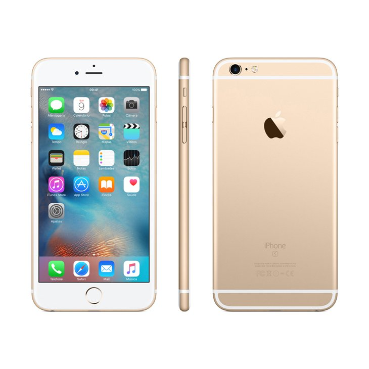 Iphone 6s Plus Apple, Dourado, 128 Gb, 5,5, Câmera 12 Megapixels - Desbloqueado