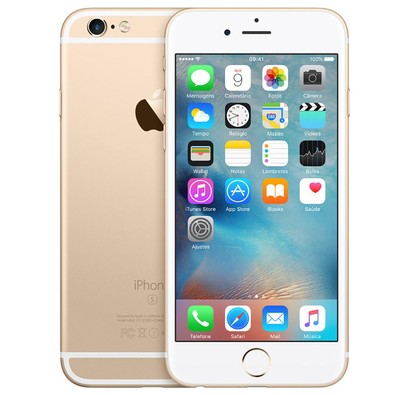 Apple Iphone 6s, Chip A9, Ios 9, Tela 4,7´, 16gb, Câmera 12mp, 4g, Desbloqueado Mkql2/a - Dourado