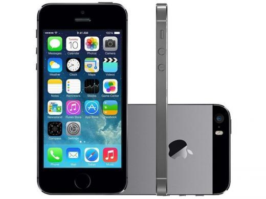Iphone 5s Apple 16gb Cinza Espacial 4g Tela 4 - Câm. 8mp Ios 7 Proc. Chip A7 Touch Id  Cód.:l909004ce