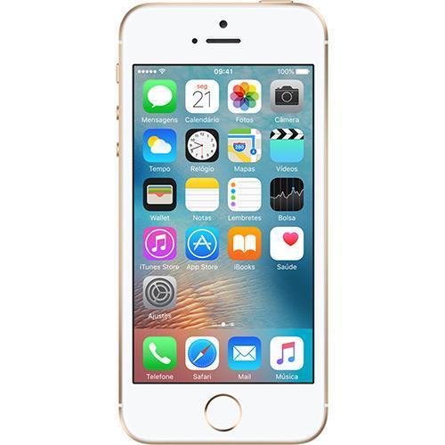 Smartphone Apple Iphone Se 16gb 4g Tela 4 Câmera 12 Mp Ios 9 Dourado (aat)