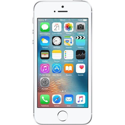 Smartphone Apple Iphone Se 16gb 4g Tela 4 Câmera 12 Mp Ios 9 Prata (aat)