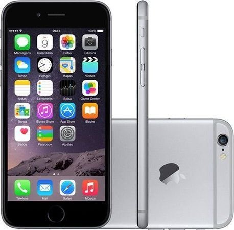 Smartphone Apple Iphone 6s 16gb Desbloqueado Space Gray - Iphone 6s Cinza Espacial
